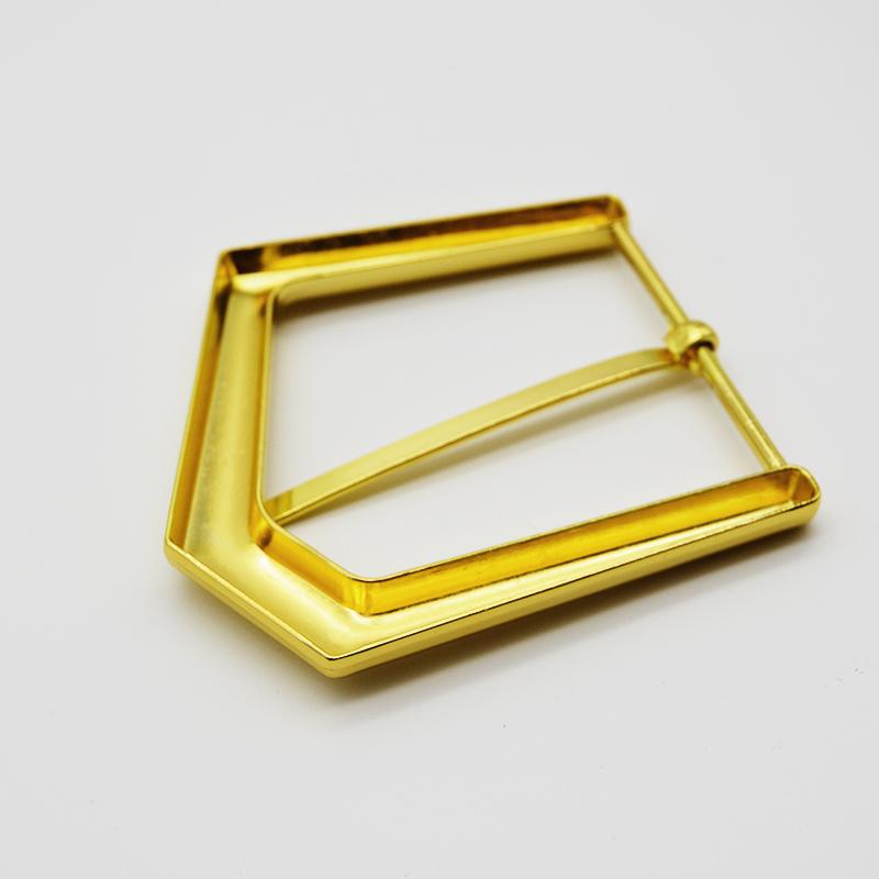 Asymmetrical Gold Buckle